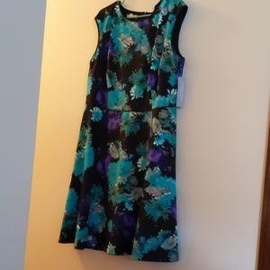 London Times Floral Print Dress